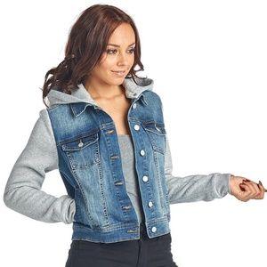 Ci Sono Denim Jacket with Removable Hood